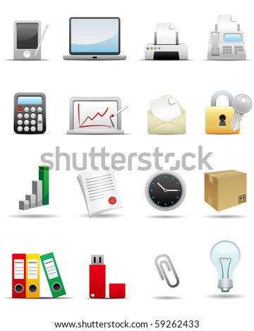 Business and Office Icon Set -- Premium Series - stock photo