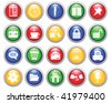 Business and office set of different  web icons - stock photo