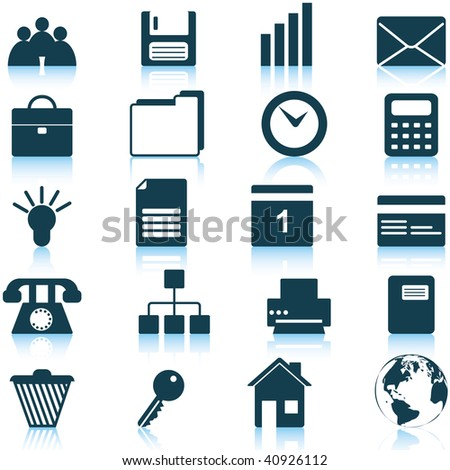 Business and office set of different  web icons