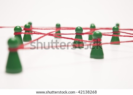 business and social networking - conceptual image, separated