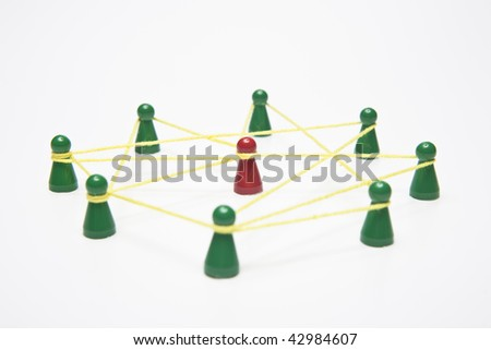 business and social networking - conceptual image, separated - stock photo
