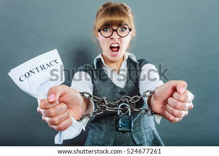 Business Stress Concept Furious Businesswoman Glasses Stock Photo