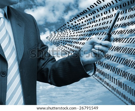 Business and technology - stock photo