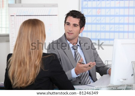business appointment - stock photo