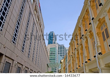 Business Architecture in Singapore - stock photo