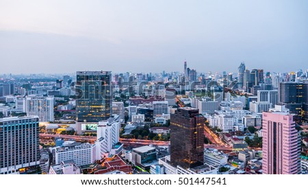 Business area with high building in Bangkok, Thailand