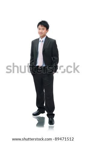 Business Asian Man Standing - stock photo