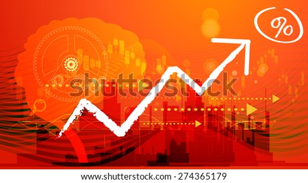 Business Aspirations Abstract - Illustration - stock photo