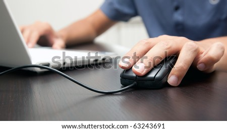 Business at work banner - stock photo