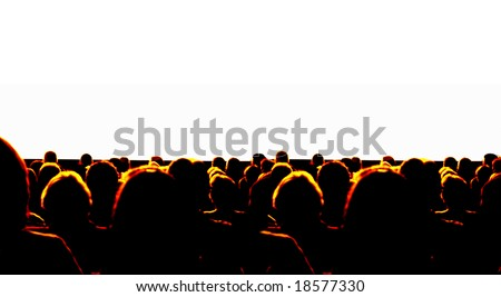 Business Audience at convention - stock photo
