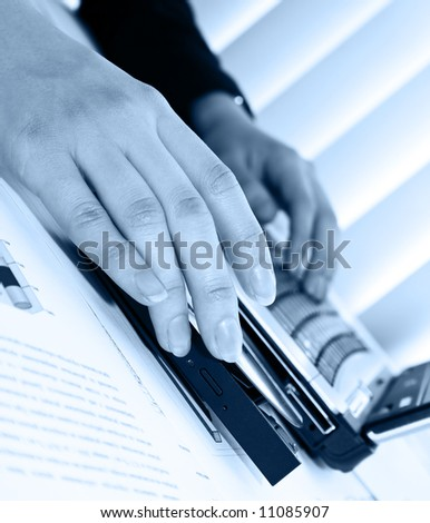 Business background. Hands and laptop keyboard. Businessman hands. Office computer. Computer keyboard. Keyboards buttons, typing hands, businessman hands, business style. Typing hand fingers