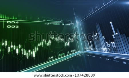 Business background. Market Analyze.Bar graphs, diagrams, financial figures. Forex.