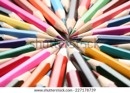 Business background of bunch pencils black paper  - stock photo