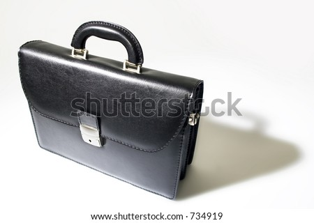 Business bag on white background with shadow - stock photo
