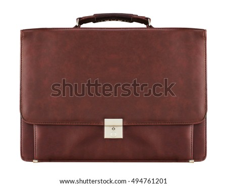 Business bag with isolated white background