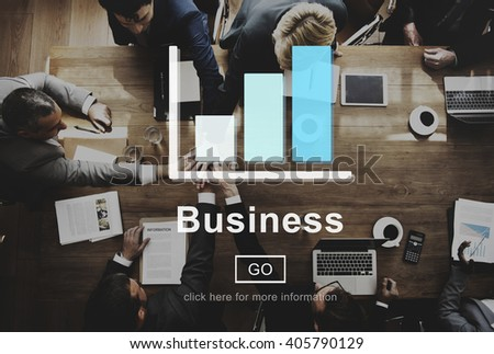 Business Bar Graph Strategy Planning Concept - stock photo