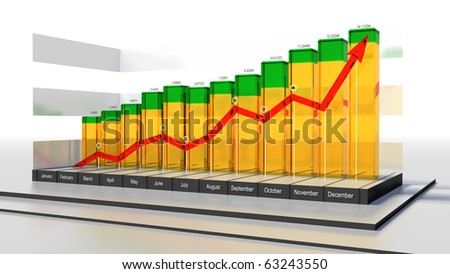 Business bars chart - stock photo