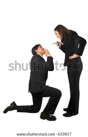 business begging couple