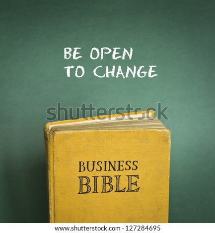Business Bible commandment - Be open to change - stock photo