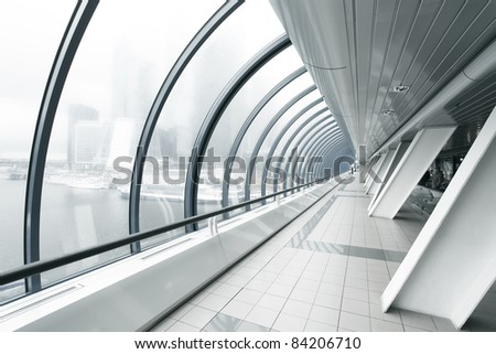 business black hallway - stock photo