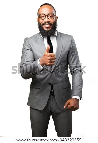business black man okay gesture - stock photo