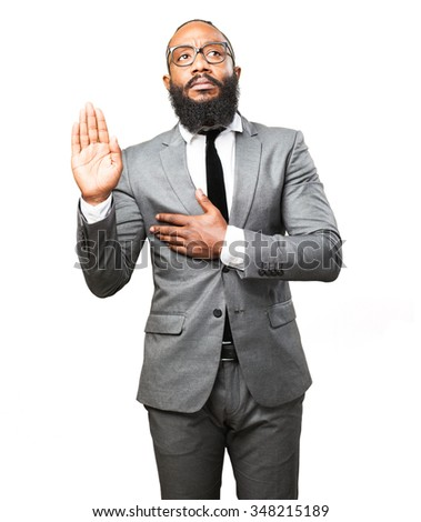 business black man swearing