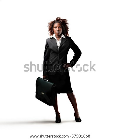business black woman - stock photo