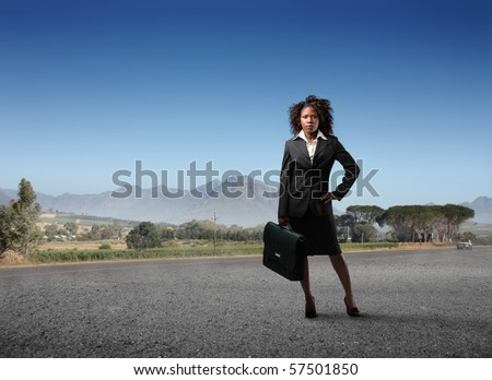 business black woman in cape town, south africa - stock photo