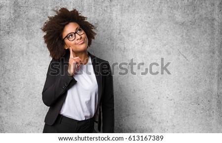 business black woman thinking