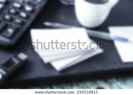 Business blur background - stock photo