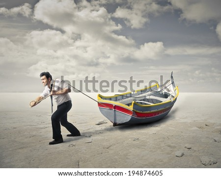 business boat - stock photo