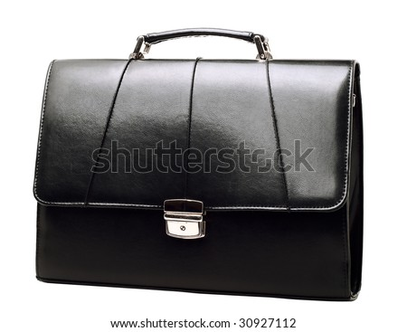 Business brief-case isolated on white background - stock photo
