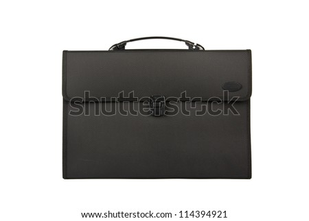 Business briefcase isolated - stock photo
