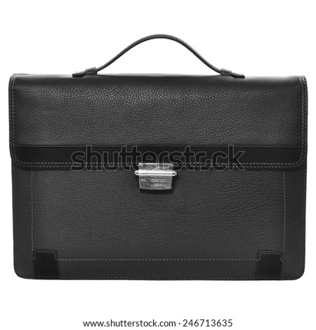 business briefcase isolated on white background - stock photo