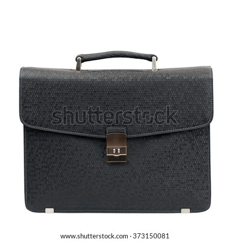 Business briefcase isolated on white background.