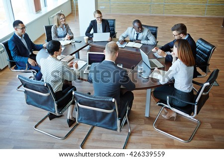 Business briefing - stock photo