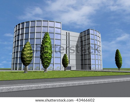 Business building - stock photo