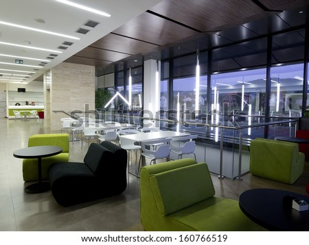 Business  building cafe - stock photo