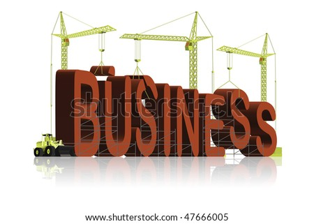 business building create a company online website to sell your product be the manager and leader - stock photo