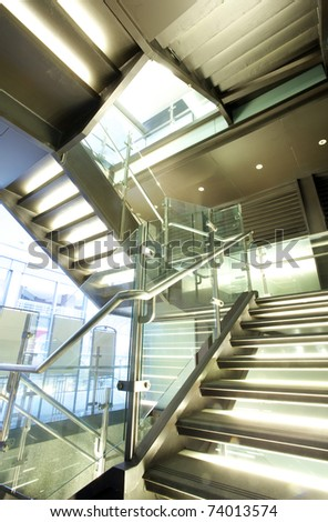 Business Building Stairs