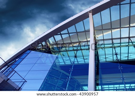 Business buildings architecture on sky background - stock photo