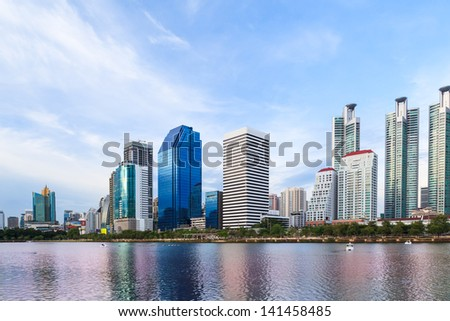 business buildings area and office, cityscape