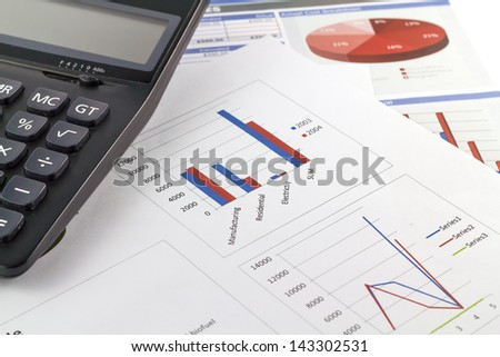 business business finance chart with calculate