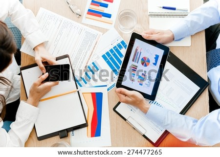 Business, Business Person, Mobile Phone. - stock photo