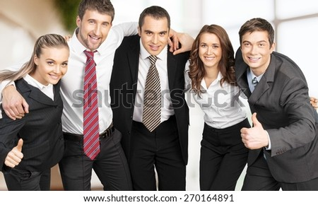 Business. Business team showing unity - stock photo