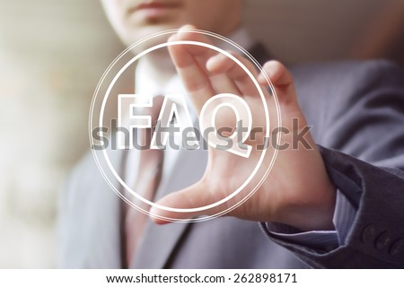 Business button FAQ connection icon web - stock photo