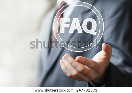 Business button FAQ sign connection icon web communication - stock photo