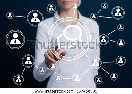 Business button sign cloud icon web - stock photo
