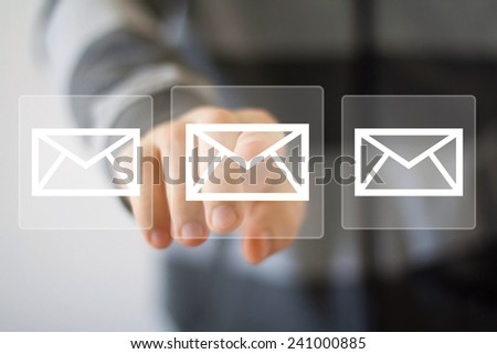 Business button web online messaging mail sending icon - stock photo