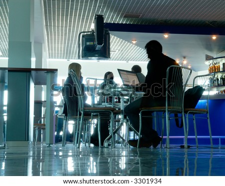 Business cafe - stock photo